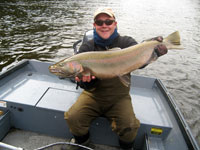 Guide Peter Basta with Black River Steelhead